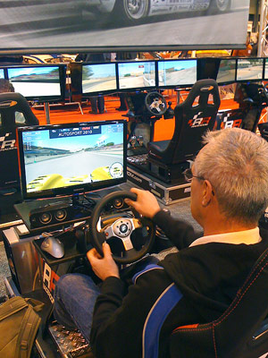 Barrie on driving simultor at this year's AutoSport show