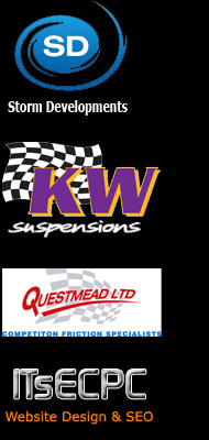 Sponsors Logos - Storm Developments and KW Suspension and ITsECPC